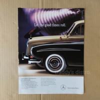Poster Iklan asli majalah import jadul lawas Mercedes Benz classic vin