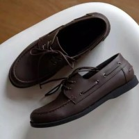 Sepatu Kulit Klasik Boats Formal Kasual Pria Terbaru