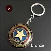 Gantungan kunci keychain Avengers key chain captain america - Bronze