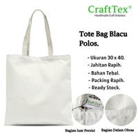 Tote Bag / GoodieBag Blacu Polos Tebal Berkualitas