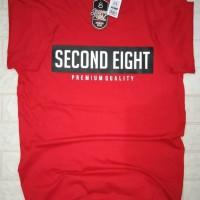 KAOS LENGAN PENDEK DISTRO MURAH BERKUALITAS SECOND EIGHT MERAH / RED