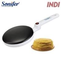 SONIFER Panci Elektrik Pancake Pizza Crepes Frying Pan Maker