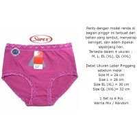 Celana Dalam Wanita Sorex 1171 CD Basic Renda - CD TERMURAH TERLARIS