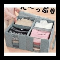 Promo Travelmate Storage Box 4 Sekat / 4 Sisi Cloth Organizer
