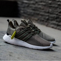PROMO Sepatu Adidas Questar Flow olive green ORIGINAL