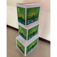 Kardus Motif Nuansa Lebaran Untuk Kemasan Bingkisan Parcel Paket Idul