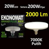 Lampu LED Ekonomat BravoPLUS UFO 20W Putih 7000K