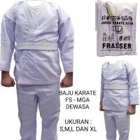 baju karate anak frasser mga ukuran 3 4 5 dan 6