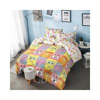 sprei Cover Spongebob Bed Ukuran Rumbai - 160x200 180x200 Deluxe