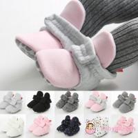 Sepatu Prewalker Boots Hangat Katun Motif Polos/Polkadot untuk Bayi