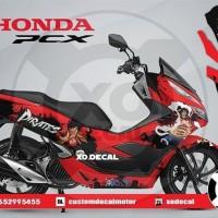 DECAL STICKER HONDA PCX 150 RED LUFFY ONE PIECE DESIGNSSXFv