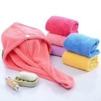 Women s Bathroom Super Absorbent Quick-drying Velvet Fabric Hair Towe