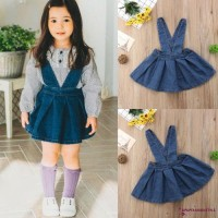 ✽UP✽Hot Baby Kids Girl Strap Denim Skirt Overalls Casual Outfit