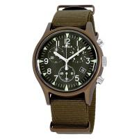 Timex MK1 TW2R67800 Chronograph Mens Green Army Dial Green Army Nylon