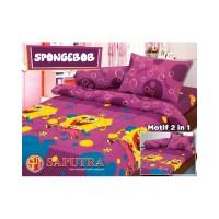 sprei katun jepang Spongebob Single Bedcover Set 120x200 Saputra Cover