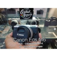 Canon m6 kit 15-45 LIKE NEW (MURAH)