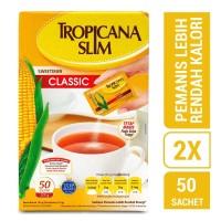 Twin Pack: Tropicana Slim Sweetener Classic (50 Sachet)