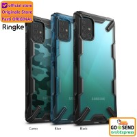 Case Galaxy A51 / A71 Ringke Fusion X Anti Crack Original - Galaxy A51, Hitam
