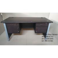 Meja Kantor Kerja laci Kanan Kiri 1 Biro KAKI BESI PRINT ODS-150