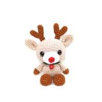 Boneka Rajut Amigurumi Reindeer Rusa Salju Christmas