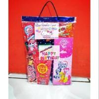 Paket souvenir ulang tahun/sumbangan Snack dan kotak pensil