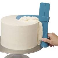 Alat Perata Cream Cake Penghias Kue Bolu - Biru
