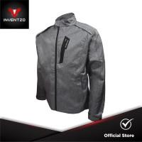 INVENTZO - LAZARO NEO Alpha - Jaket Motor Tahan Angin Pria - Grey