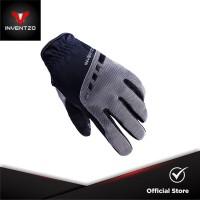 INVENTZO Torino Black Grey - Sarung Tangan Motor Sensitive Touch Pria
