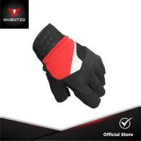 INVENTZO Lafio Red - Sarung Tangan Motor Half Finger Pria