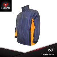 INVENTZO STORMRIDER Beta - Jaket Waterproof Pria - Navy Yellow