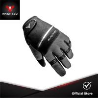 INVENTZO Fortunio Grey Black - Sarung Tangan Motor Sensitive Touch Tip