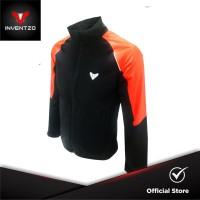 INVENTZO Marco Alpha - Jaket Motor Tahan Angin Pria Black - Orange