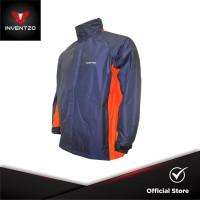 INVENTZO STORMRIDER Beta - Jaket Waterproof Pria - Navy Orange