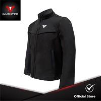 INVENTZO Delano Alpha - Jaket Motor Tahan Angin Pria - Black