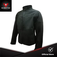 INVENTZO Favio Alpha - Jaket Motor Tahan Angin Pria - Black