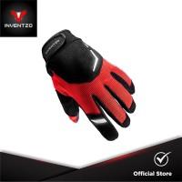 INVENTZO Tornado Red - Sarung Tangan Motor Sensitive Touch Tip