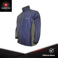 INVENTZO STORMRIDER Beta - Jaket Waterproof Pria - Navy Grey