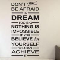 BEST SELLER Wall Sticker Quotes Don't Afraid Dream Stiker Dekorasi