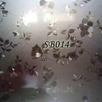 BEST SELLER SB014-LITTLE FLOWER 45CMX5M SANDBLAST STICKER STIKER KACA