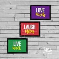 BEST SELLER Poster Motivasi Keluarga, Live Well, Hiasan Dinding Keren