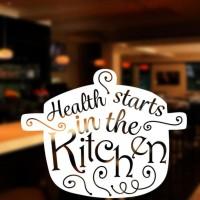 BEST SELLER Stiker Health Start from Kitchen Dapur Dinding Kaca Wall