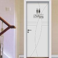BEST SELLER Sticker Pintu Bathroom Shower Toilet Idea Cewek Cowok Unik