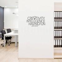 BEST SELLER Wall Stiker Dinding Kaca Motivasi Creativity Ide Kantor