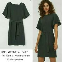 HMB WithTie Belt in DarkMoss green Dress