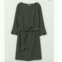 HMB WithTie Belt olivegreen Dress