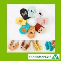Kaos Kaki Sepatu Bayi CUTE ANIMAL 3D Bahan Katun Breathable Motif