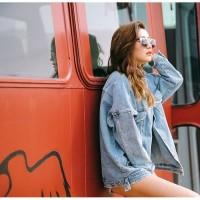 Jaket Jeans Denim Oversize Best Seller Wanita - Bioblitz