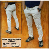 celana chino pria cream hitam mocca abu bahan cotton twill size S - XL