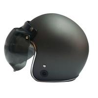 Helm Retro List Chrome HKM Gunmet Doff Silver L