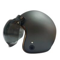 Helm Retro List Chrome HKM Gunmet Doff Gold L